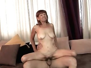 Mummy Sweetheart Irene Takes A Dick In Both Fuck Holes