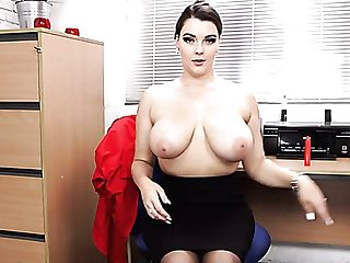 Eye-catching Cherry Redden Is A Lusty Assistant Who Loves To...