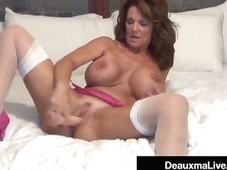 Big-titted Cougar Deauxma Uses Four Inch Ass Fucking Buttplug &...