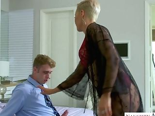 Man Eating Cougar Ryan Keely Tempts Her Stepson And Fucks Him Hard