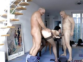 Brit Matures Double Penetration Fucked By Old Guys