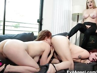 Crazy Pornographic Stars Gabriella Paltrova, Violet Monroe, Sarah...