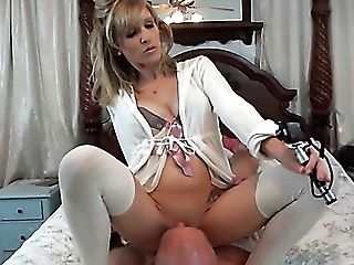 Fantastic Matures Blonde Woman On The Couch Shows Her Goodies And...