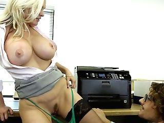 Hot And Chesty Blonde Mummy Is Antsy To Entice A Stellar Youthfull...