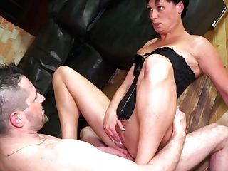 German Matures Wifey Takes Hard Dick In Opened Up Butt Fuck Hole...