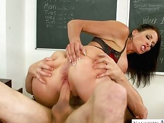 Juggy Schoolteacher Reagan Foxx Fucks One Of Her Dearest Graduate...