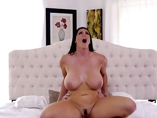 Total Natural Bosomy Brunet Mummy Alison Tyler Gives A Boob Banging...