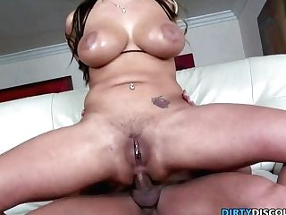 Facialized Mummy Booty-fucked While Masturbating