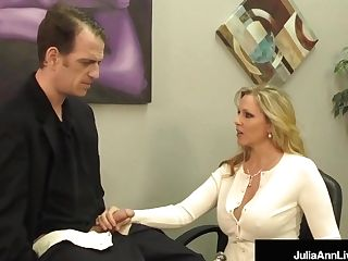 Buxom Blonde Mummy Julia Ann Milks Jizz From Rock Hard Dick!